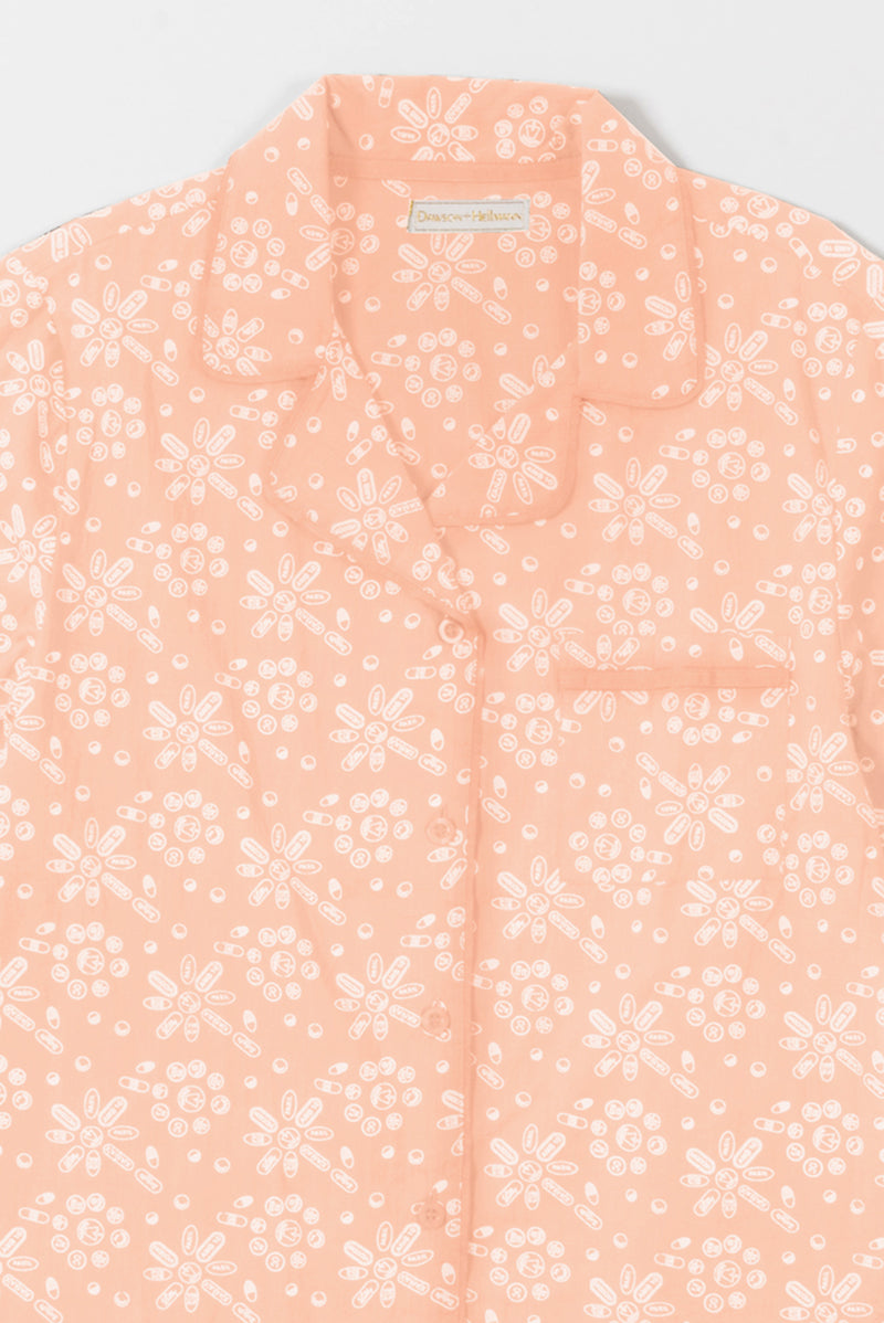 Pills Wallpaper Printed Pajamas in Pink
