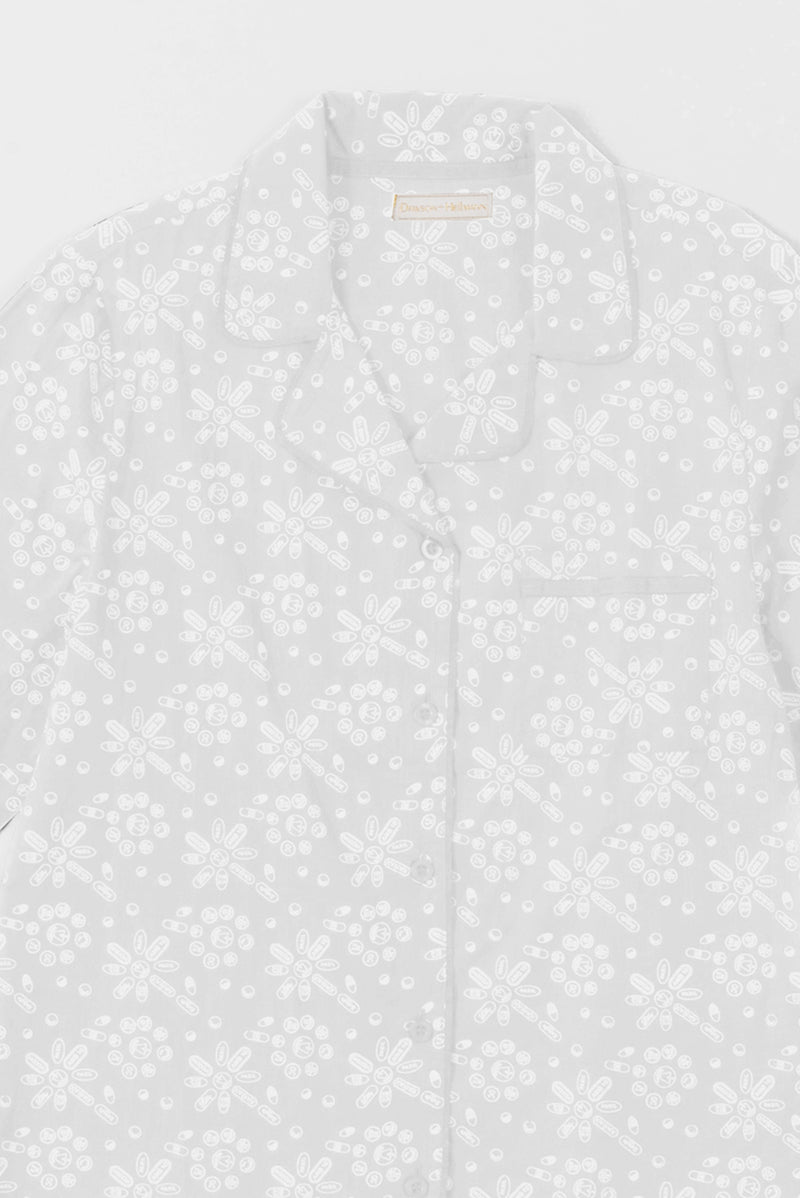 Pills Wallpaper Printed Pajamas in White