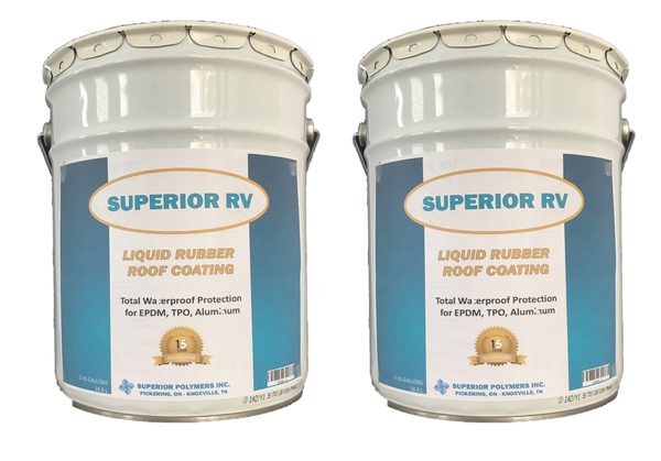 Superior RV Liquid Rubber Roofing for 40ft RV, Camper, Trailer, Motorhome 10 Gallons FREE Shipping