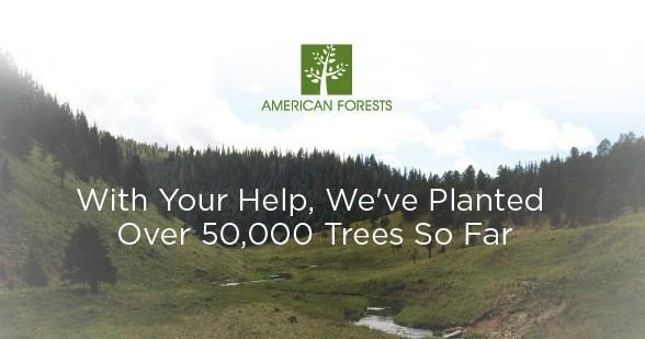 Rokform plants over 50,000 trees through American Forests!