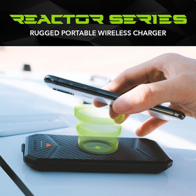 Available Now: Reactor Series Rugged Portable Wireless Charger