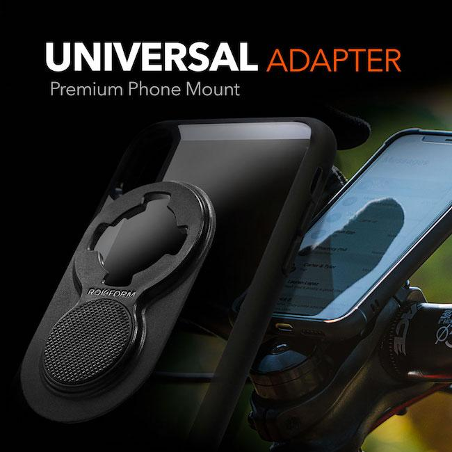 Mount any phone model with the Universal Adapter