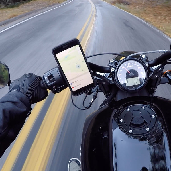 motorcycle phone mount riding