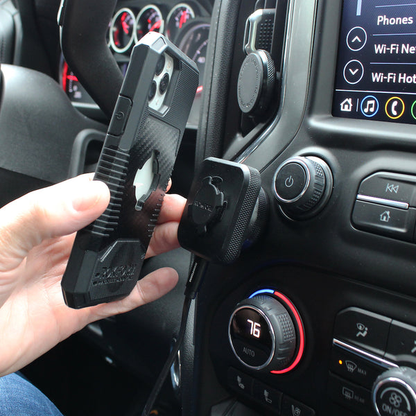 RokLock Charger with Car Dash Mount 2
