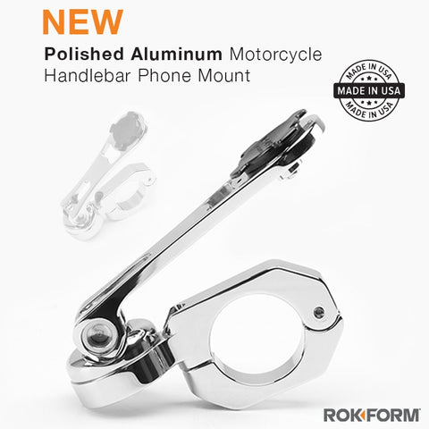 New Polished Aluminum iPhone Motorcycle Mount