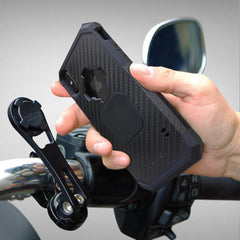 motorcycle handlebar mount for phone, motorcycle phone mount, rokform mount