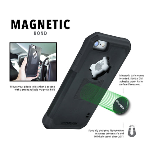 Magnetic phone case with car mount