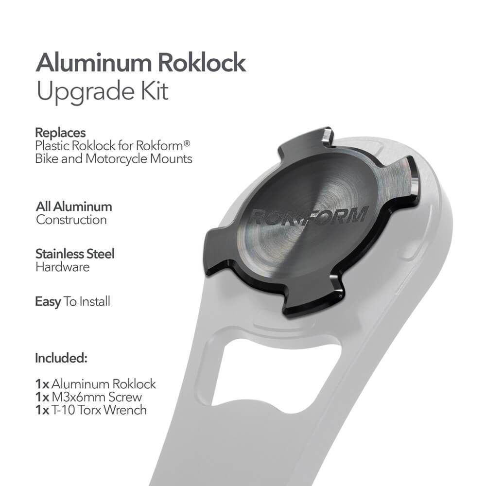 Aluminum RokLock Upgrade Kit - For Rokform Bike and Motorcycle Mounts