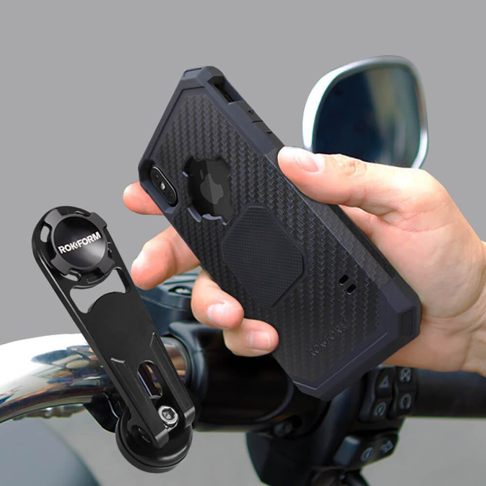 Rokform Pro Series Motorcycle Perch Phone Mount Black Aircaft Aluminum for Indian /& Metric Motorcycles /
