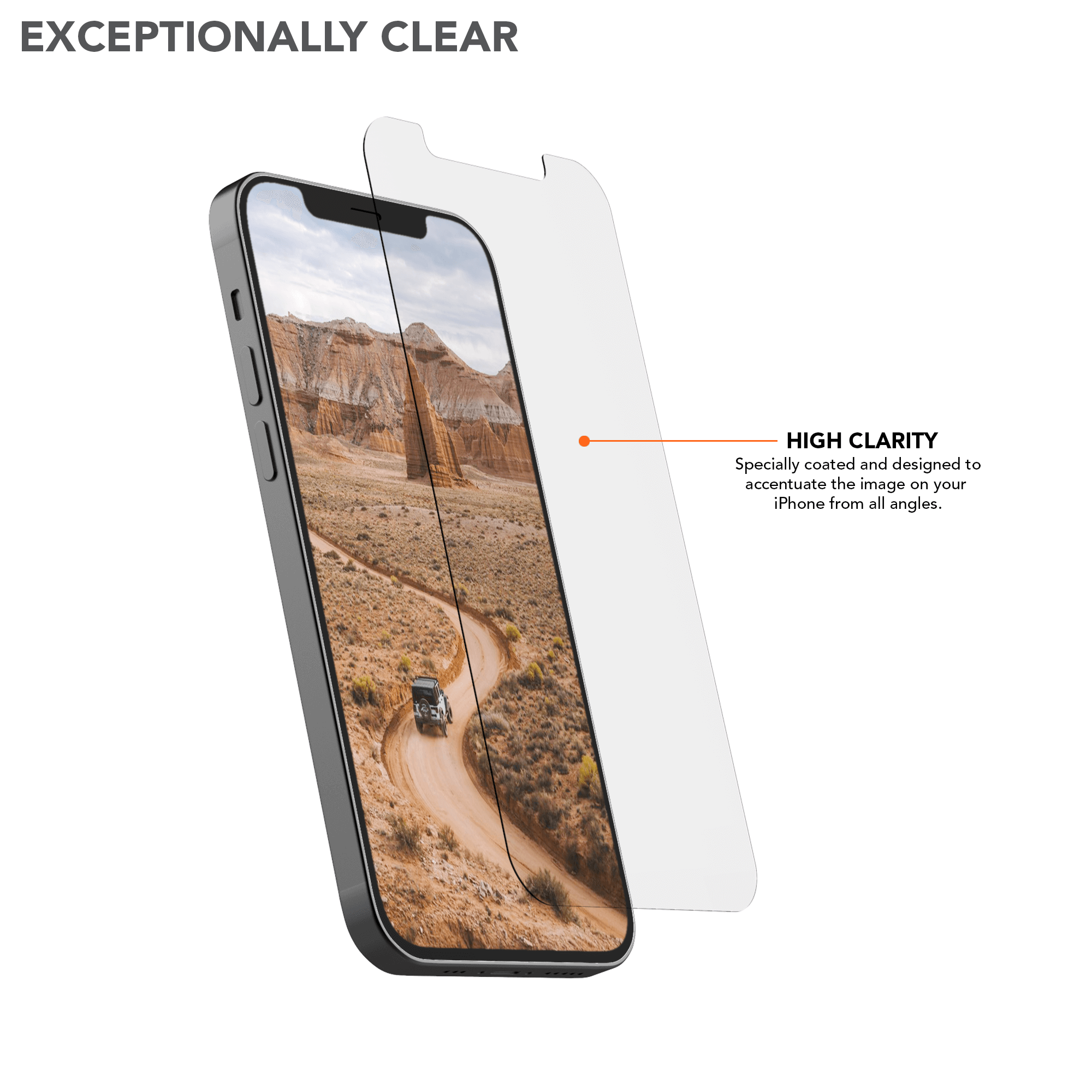 iPhone 12 Pro Max Tempered Glass Screen Protector (2 Pack)