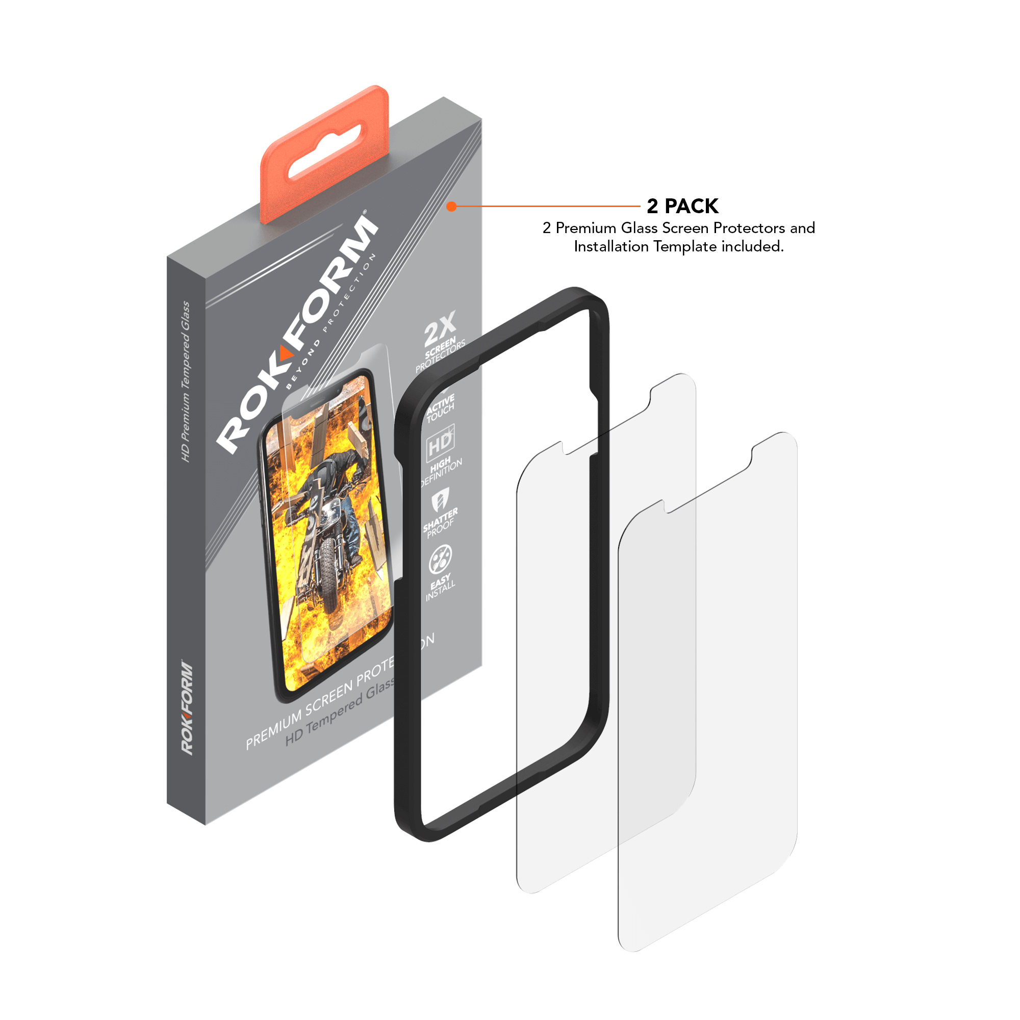 iPhone 12 Mini Tempered Glass Screen Protector (2 Pack)