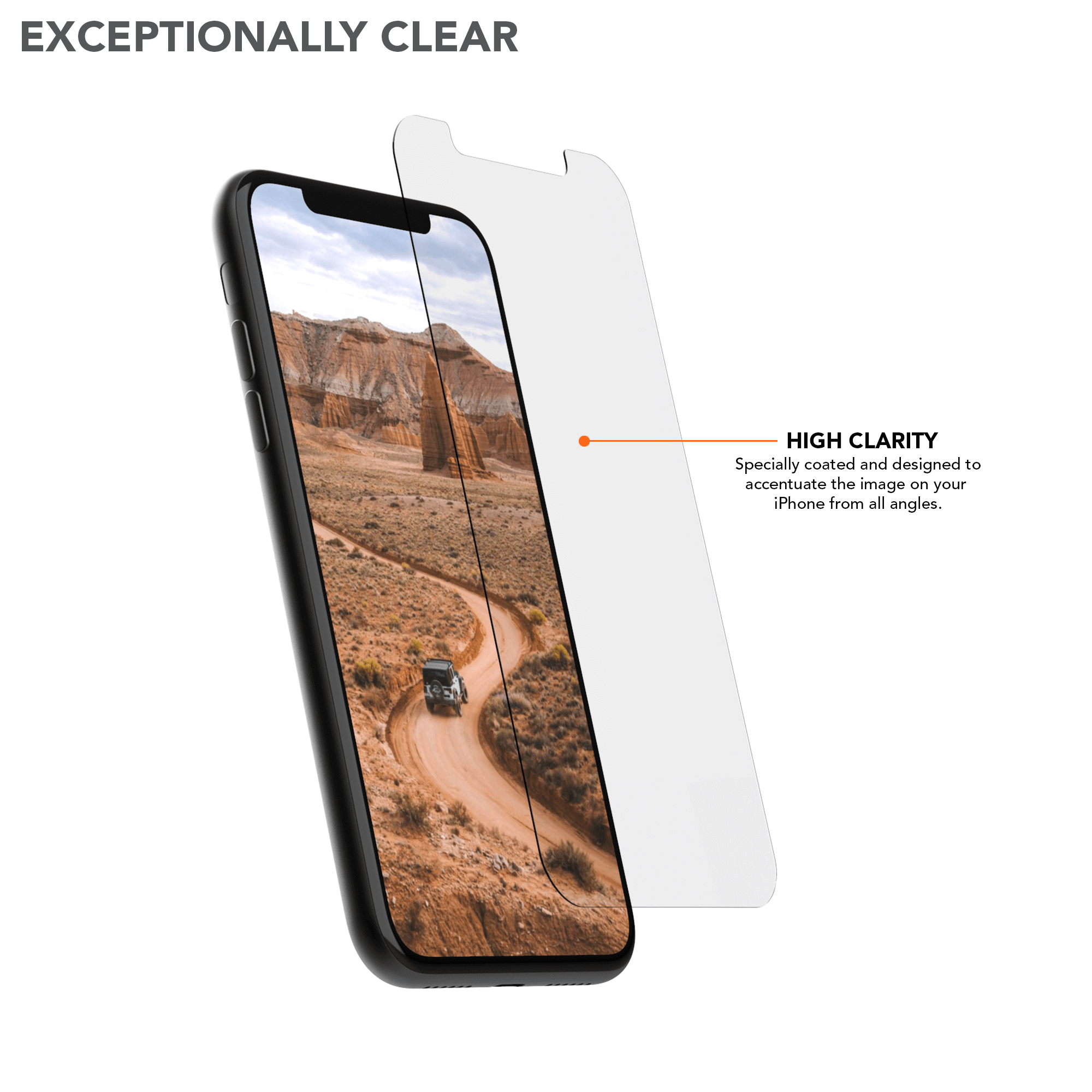 iPhone 11 Pro/XS/X Tempered Glass Screen Protector (2 Pack)