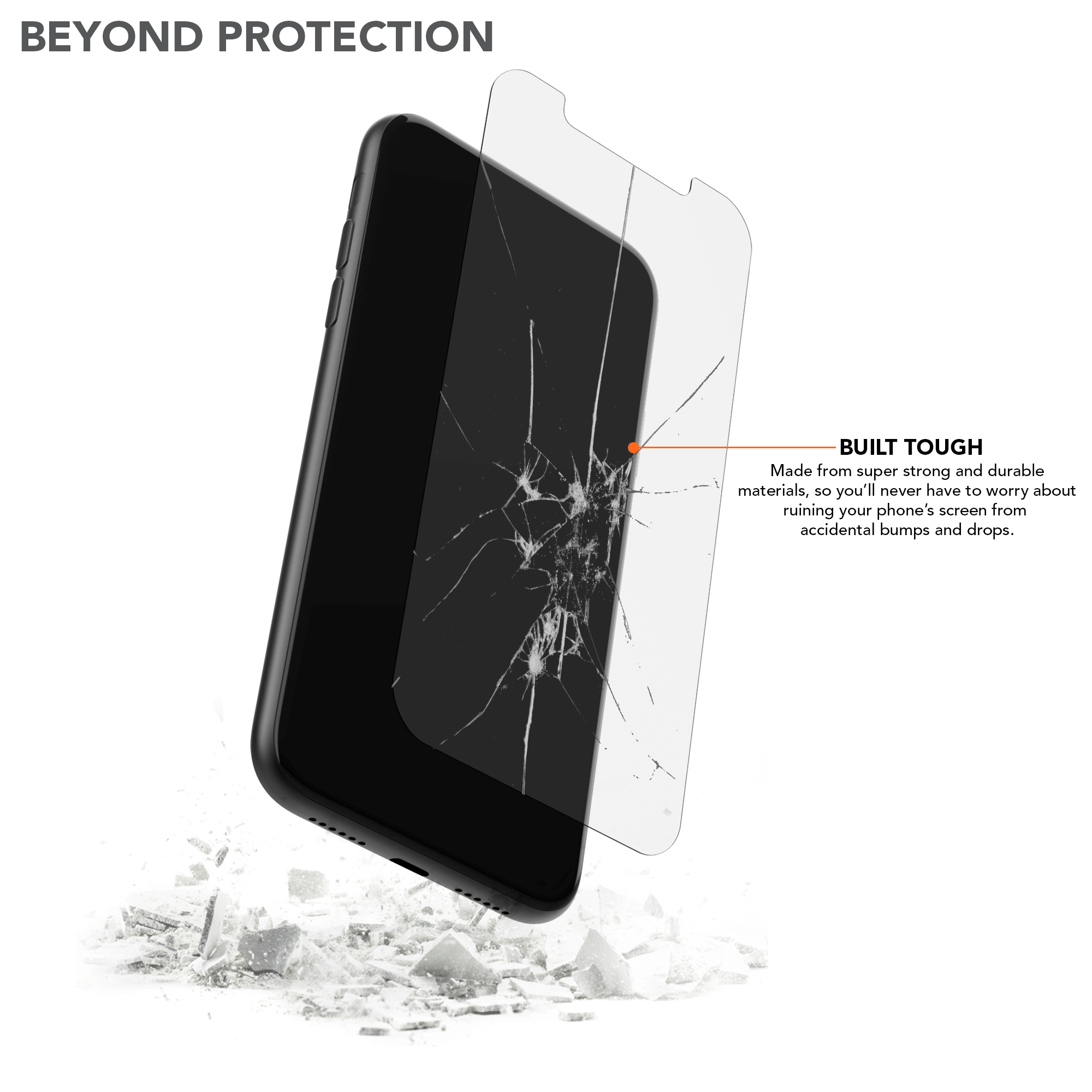 iPhone 11/XR Tempered Glass Screen Protector (2 Pack)