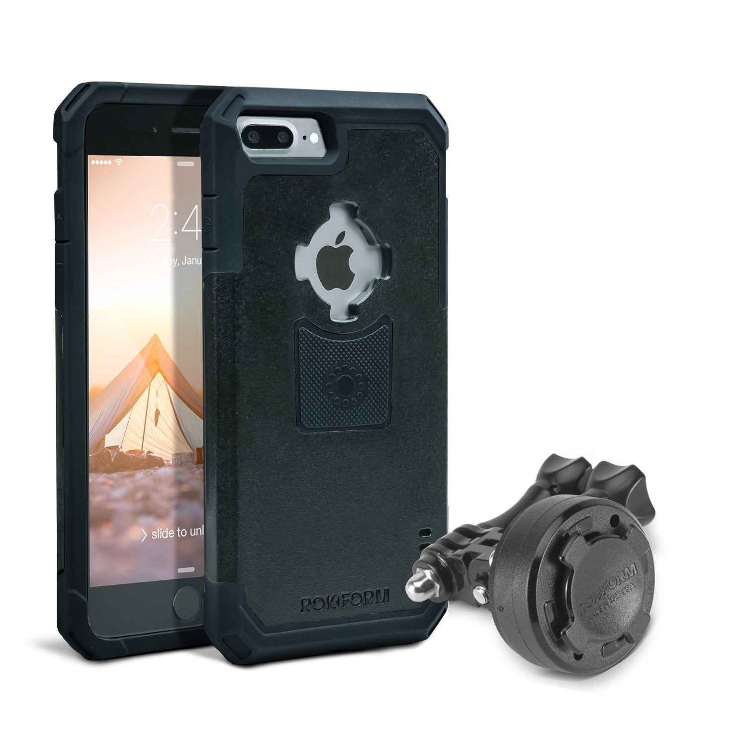 iphone mount. gopro mount kit + iphone 7 plus case iphone v