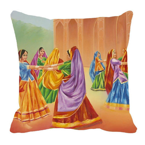 Cushion Digitally Printed Dance, Color: Yellow