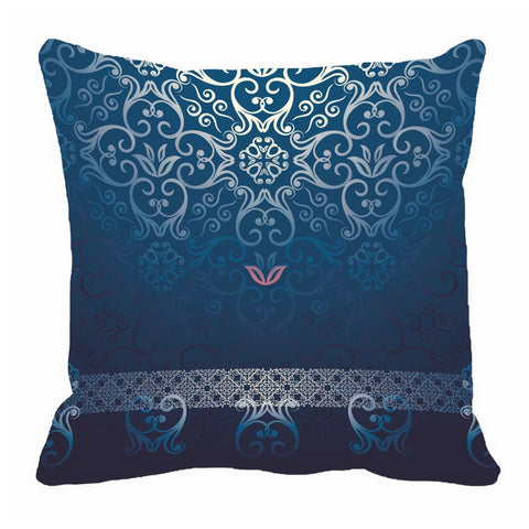 meSleep Blue pattern Cushion, Color: Blue