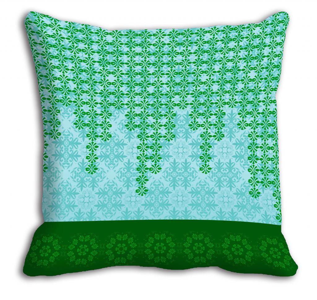 meSleep Green Abstract Cushion, Color: Green