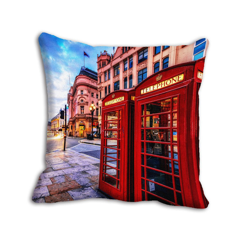 meSleep Red Telephone Booth City Cushion, Color: Red