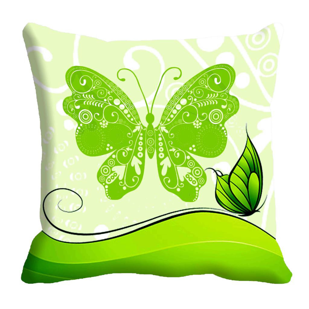 meSleep Butterfly Impression Cushion, Color: Green
