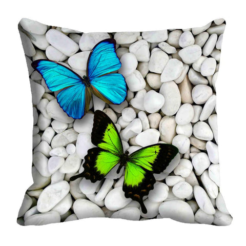 meSleep Colorful Butterfly Cushion, Color: Blue