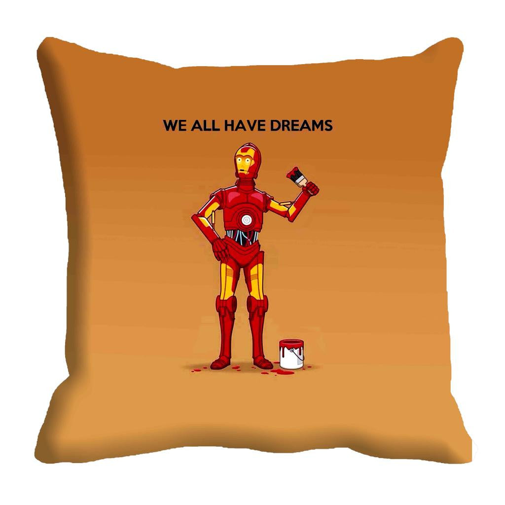 meSleep We All Have Dreams C3PO Cushion, Color: Blue