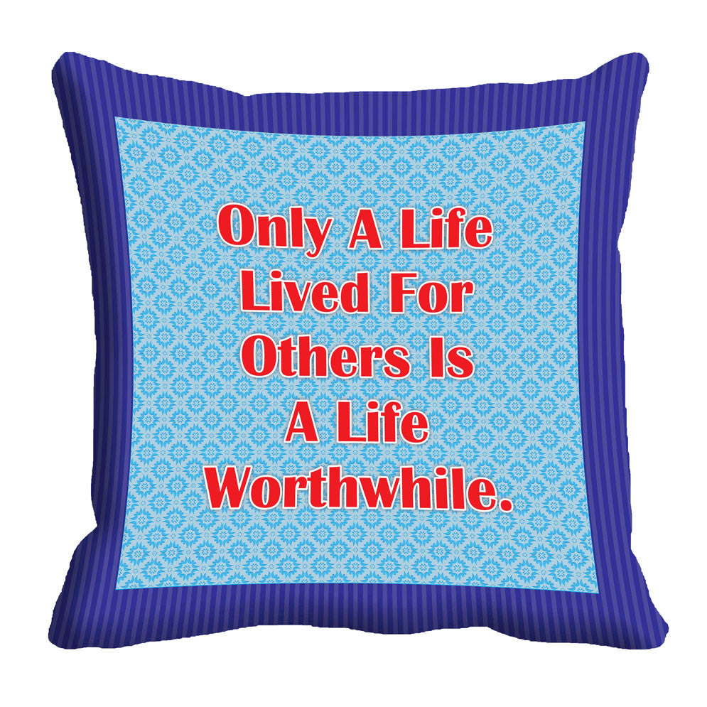 meSleep Worthwhile Life Cushion, Color: Blue