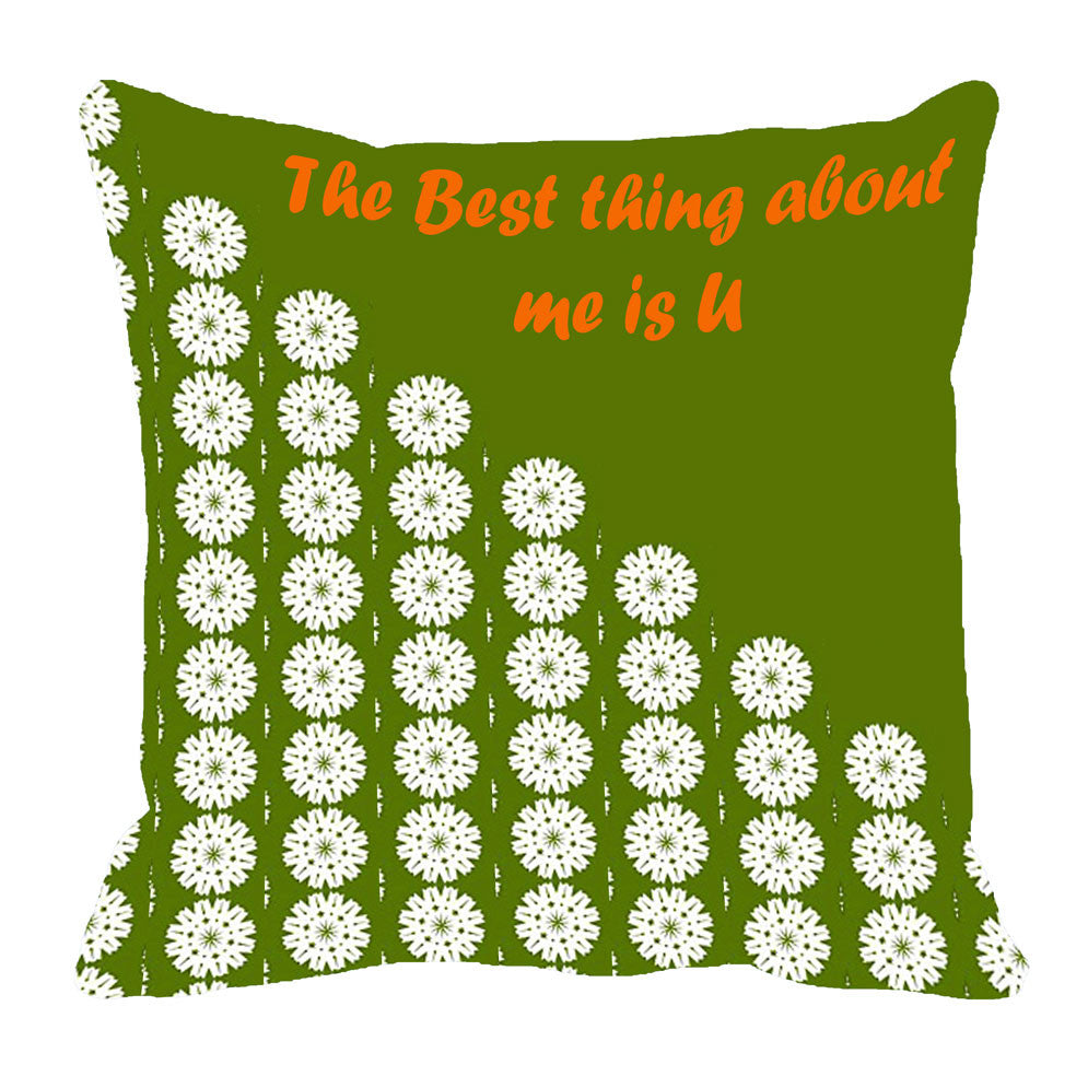 meSleep Best Thing Cushion, Color: Green