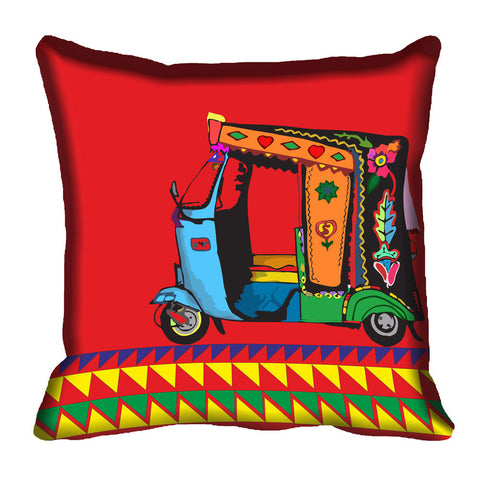 meSleep Ethnic Digital Printed Cushion, Color: Multi
