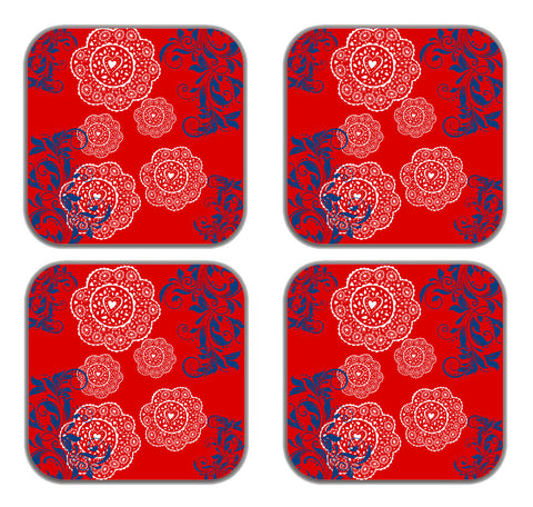 meSleep  Red Ethinic  Refrigerator  Magnets-Set of 4