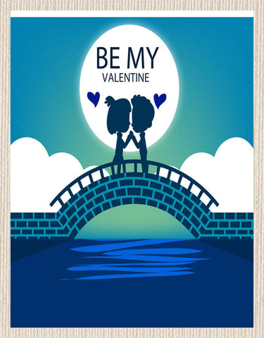 meSleep Be My Valentine  Canvas , Color: Blue