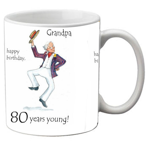 meSleep 80 year grand paa Happy Birthday mug
