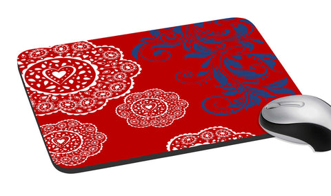 meSleep  Red Ethinic  Mouse Pad