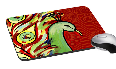 meSleep  Red Peacock Mouse Pad