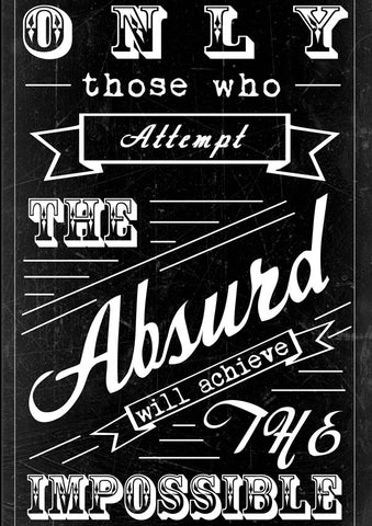 meSleep Absurd Quote Poster, Color: Multi