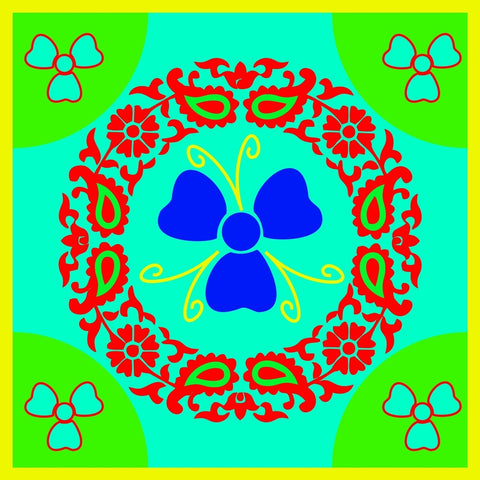 meSleep Beautiful Floral Printed Rangoli For Festivals