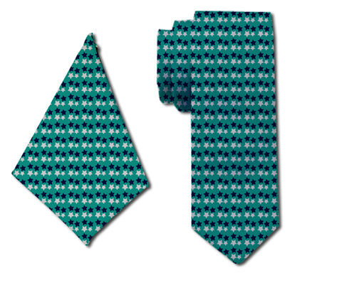 meSleep Starry Opulent Neck Tie with Matching Pocket Square for Men