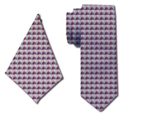meSleep Sumptuous Pink Neck Tie with Matching Pocket Square for Men