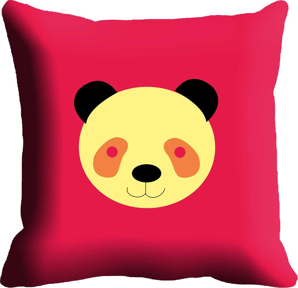Pink Beige Face Digitally Printed Cushion, Color: Pink