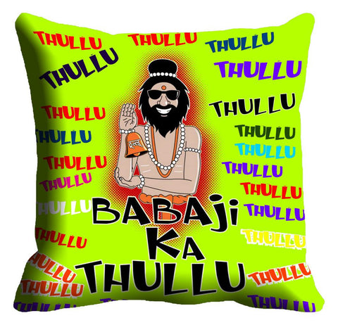 meSleep Babaji Green Cushion, Color: Green