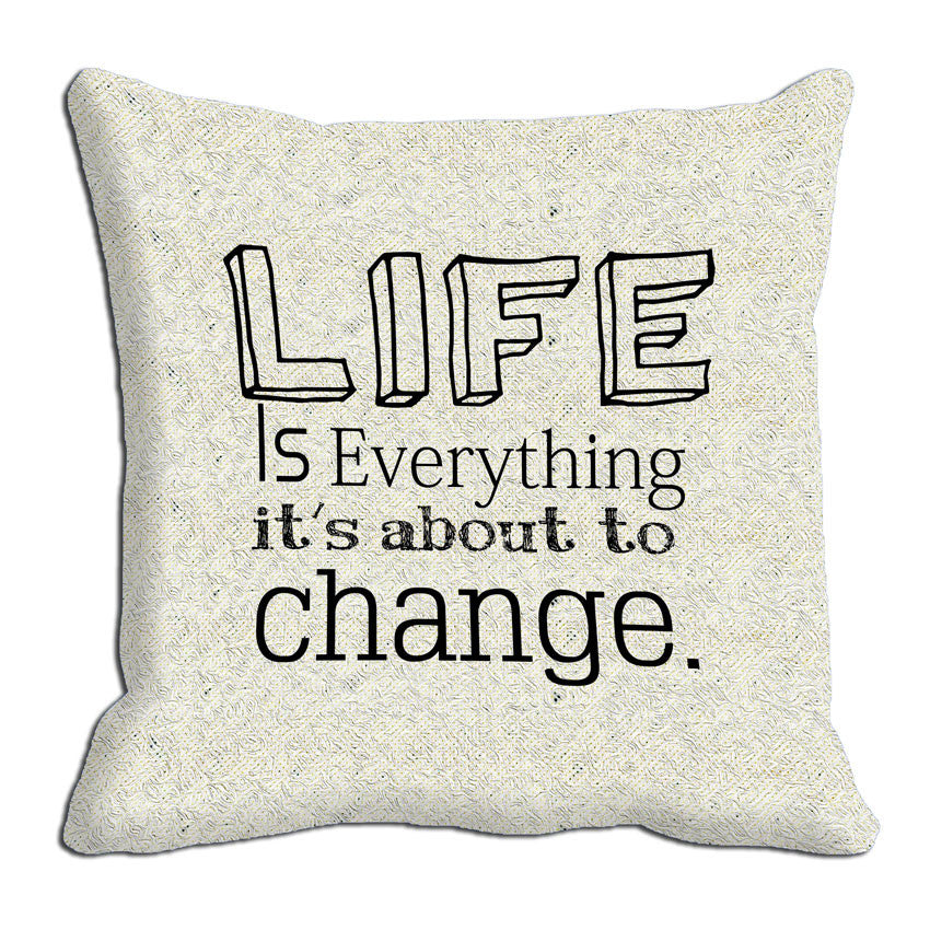 meSleep Life Is Everything Cushion, Color: Grey