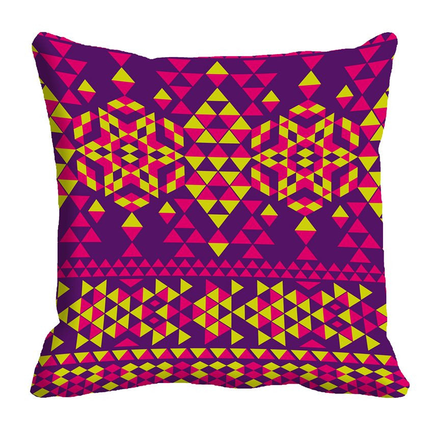 meSleep Triangle Pattern 3D Cushion, Color: Purple