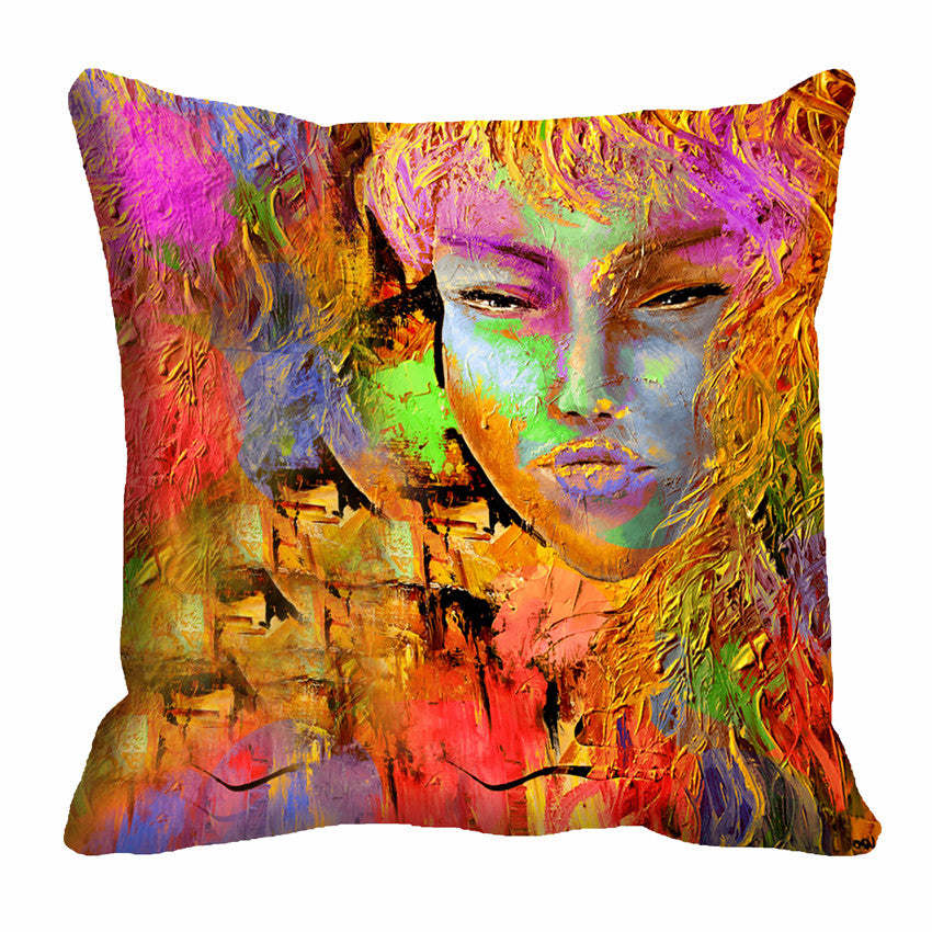 meSleep Golden 3D Cushion, Color: Multi
