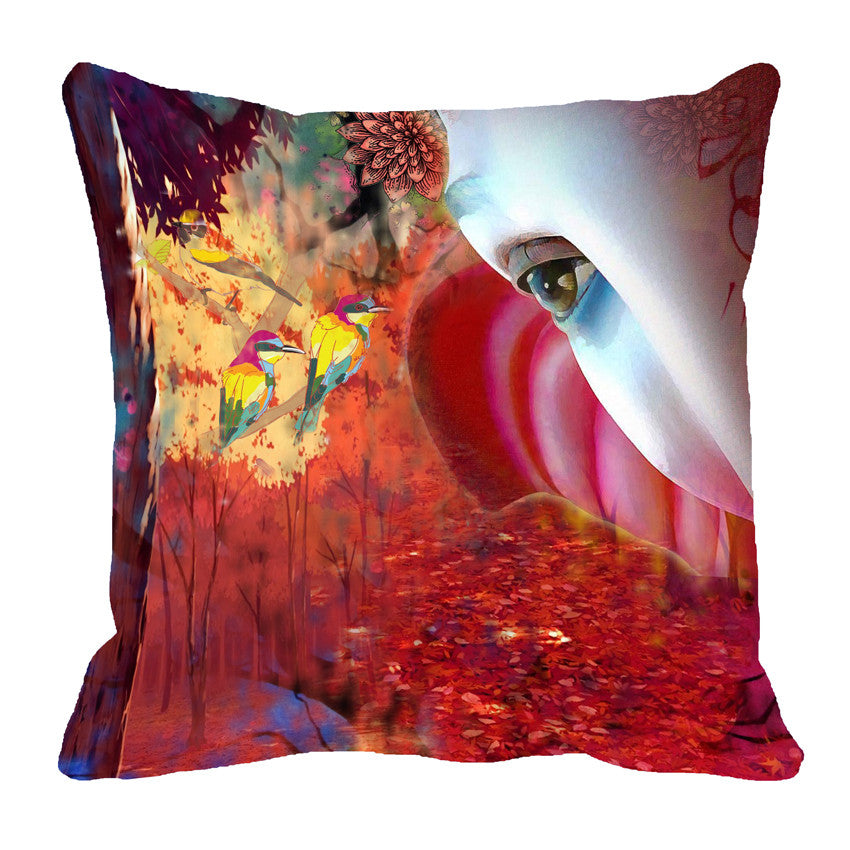 meSleep Forest Eye 3D Cushion, Color: Red