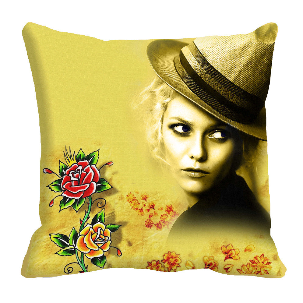 meSleep Girl 3D Cushion, Color: Beige