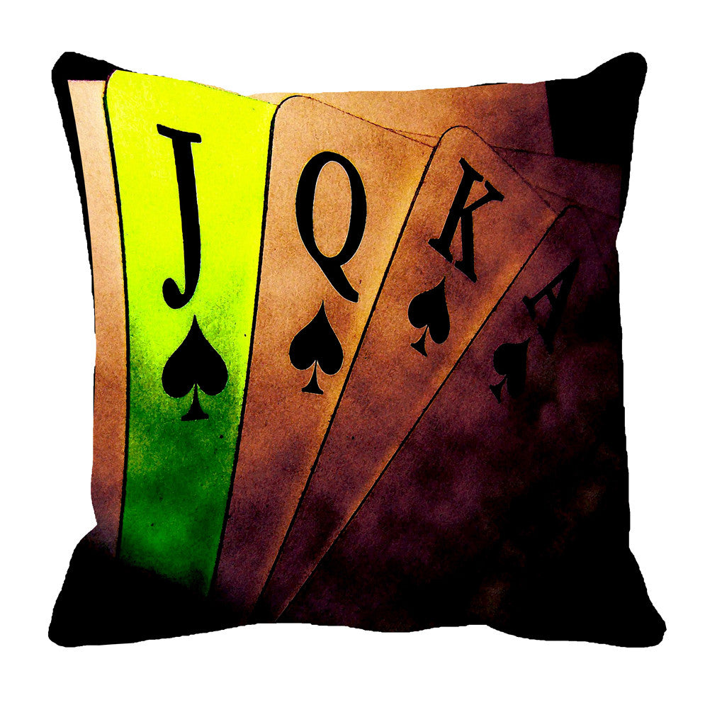 meSleep Poker 3D Cushion, Color: Brown