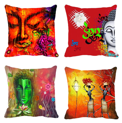 4pc -meSleep Abstract 3D Cushion, Color: Multi