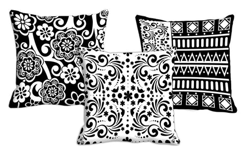 3pc Combo meSleep Ethnic Digitally Printed 16x16 inch Cushion s, Color: Multi