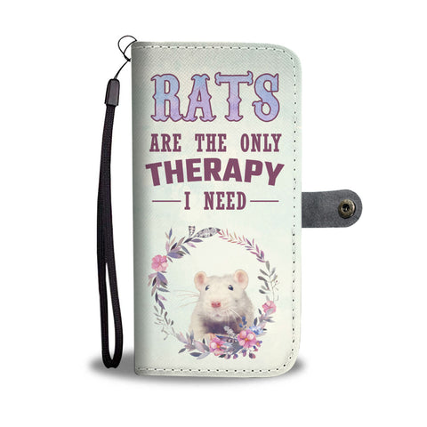 Rats are the only therapy - Wallet Phone Case