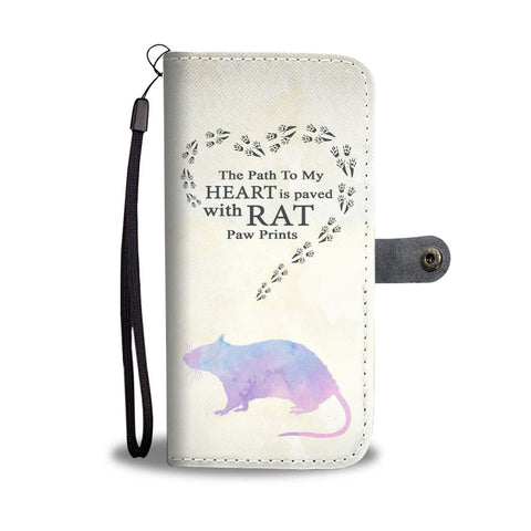 Rat Paw Prints - Wallet Phone Case