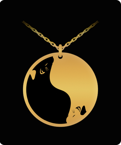 Rats Yin Yang Laser Engraved  Necklace